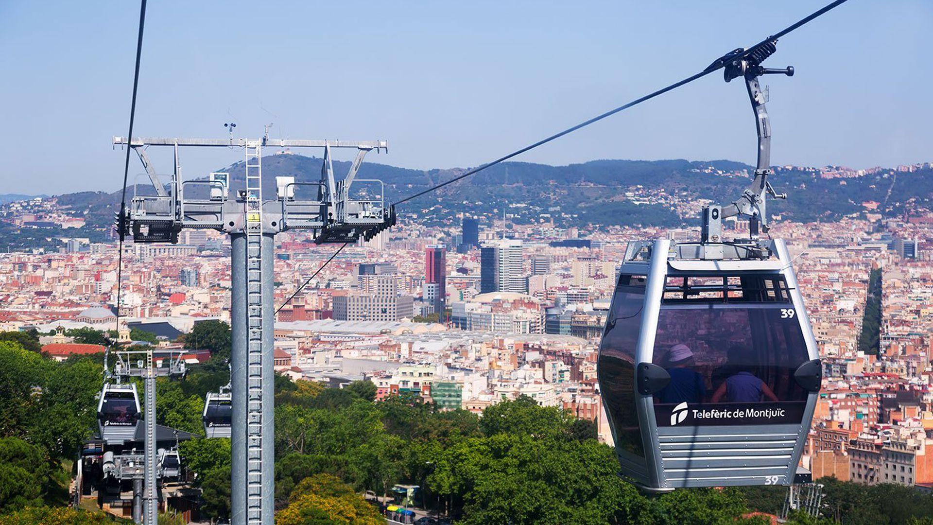 Montjuic: Cable Car Ride & Audio Tour